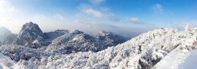 Fotomural Neve, cena, Huangshan, colina, Inverno