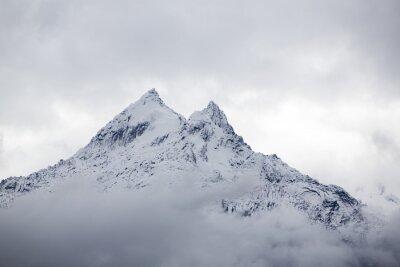 Fotomural Neve, coberto, montanha, pico, Cordillera, Blanca, Peru