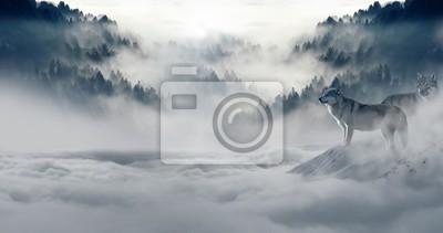 Fotomural neve do inverno