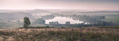 Fotomural Névoa da manhã e o lago