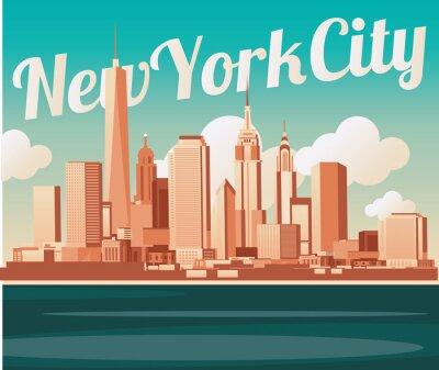 Fotomural New York City skyline