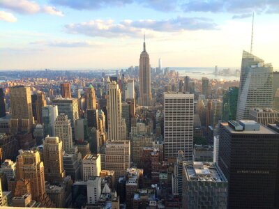Fotomural New York vista al tramonto da top of the rock