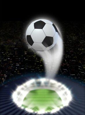 Fotomural Noite do estádio com bola Swoosh