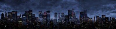 Fotomural Noite panorama da cidade