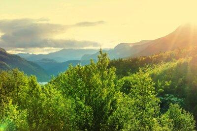 Fotomural Noruega montanhas