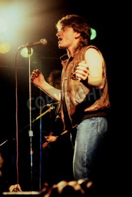 Fotomural Norwich, Inglaterra, 1 de outubro de 1981 - Concerto em U2 na UEA