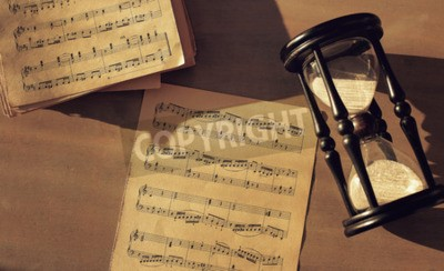 Fotomural Notas de música na mesa