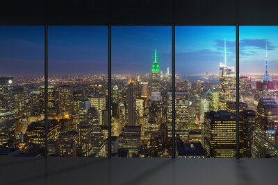 Fotomural Nova York Vista Noturna