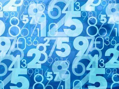 Fotomural números abstratos azuis