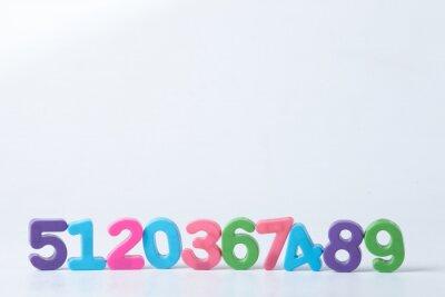 Fotomural Números Assorted coloridos