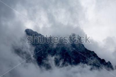 Fotomural Nuvens, ao redor, a, pico, de, um, montanha, em, alpes, europa, ustrustria