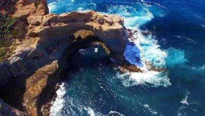 Fotomural O Arco. Formação de rocha ao longo da grande estrada do oceano, Austrália. Aeri