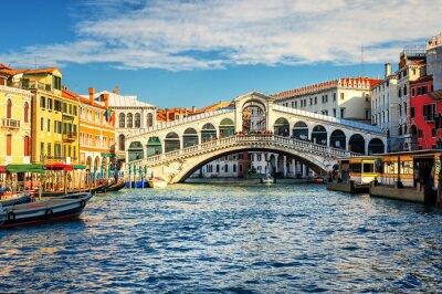 Fotomural O Grande Canal e ponte de Rialto, Veneza, Itália