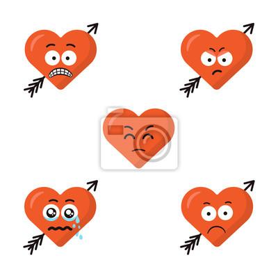 O Jogo Do Coração Bonito Liso Do Emoji Dos Desenhos Animados