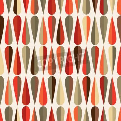 Fotomural O teste padrão sem emenda retro do estilo moderno de Meados de-século com gota dá forma em vários tons da cor, fundo de repetição abstrato para todas as finalidades da correia fotorreceptora e da cópi