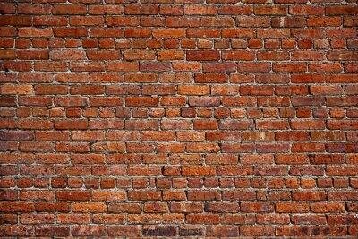 Fotomural o velho muro de tijolo vermelho