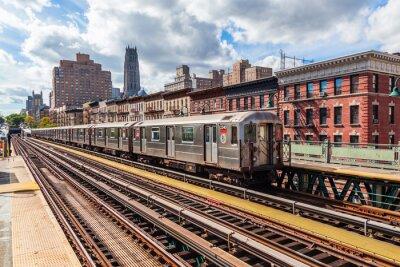 Fotomural Oberirdische, metro, Manhattan, NYC