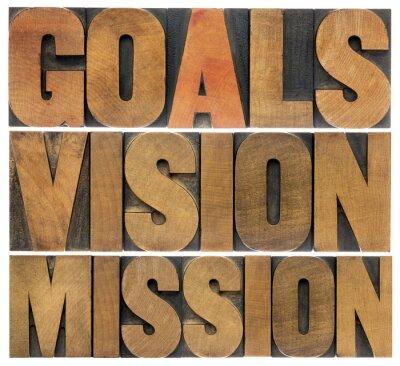 Fotomural objetivos, visão e missão