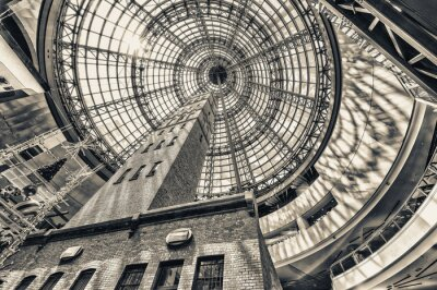 Fotomural Olhar, ao lado, tiro, torre, abobadado, telhado, Melbourne, cêntimo