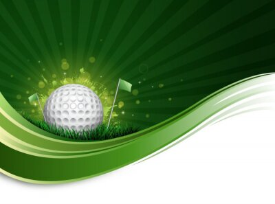 Fotomural onda bola de golfe