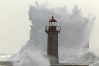 Fotomural Onda tormentosa grande e torrencial