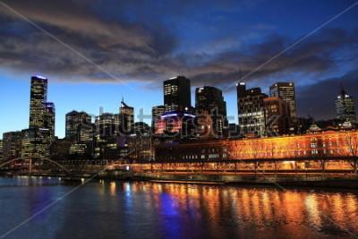 Fotomural Opinião da noite de Melbourne Australia