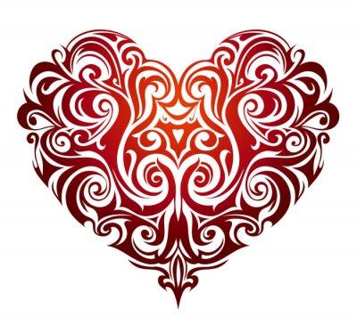 Fotomural Ornamento da forma do coração