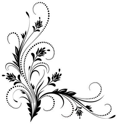 Fotomural Ornamento de canto decorativo
