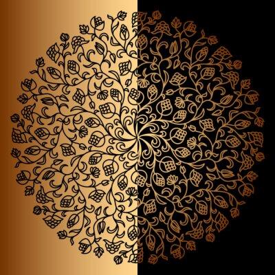 Fotomural Ornamento do ouro do vetor.
