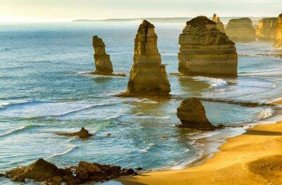 Fotomural Os Doze Apóstolos ao pôr do sol ao longo da Great Ocean Road, Victoria -