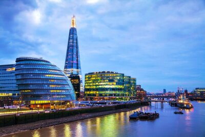 Fotomural Overview of London with the Shard London Bridge