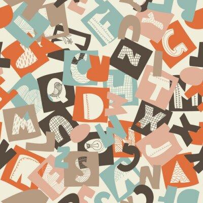 Fotomural padrão alfabeto perfeita