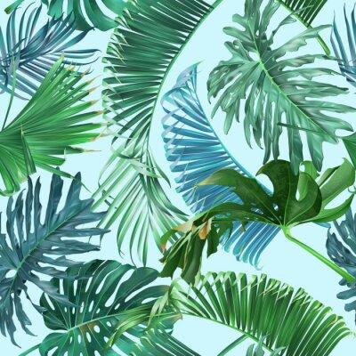 Fotomural Padrão de folhas tropicais