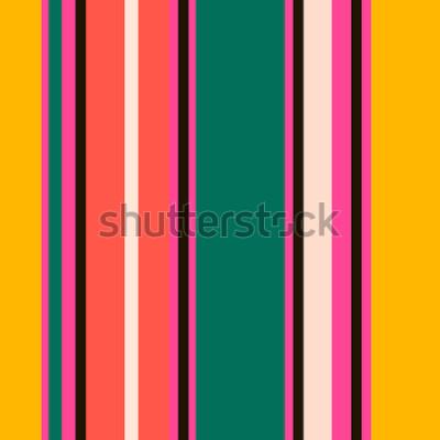 Fotomural Padrão de listras sem costura colorida brilhante retrô. Resumo de fundo vector. Cores elegantes.