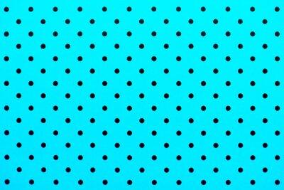 Fotomural Padrão de papel de parede pontos pretos em fundo de cor turquesa