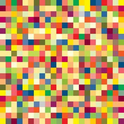 Fotomural Padrão de pixels coloridos