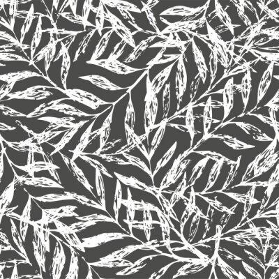 Fotomural Padrão floral tropical sem costura