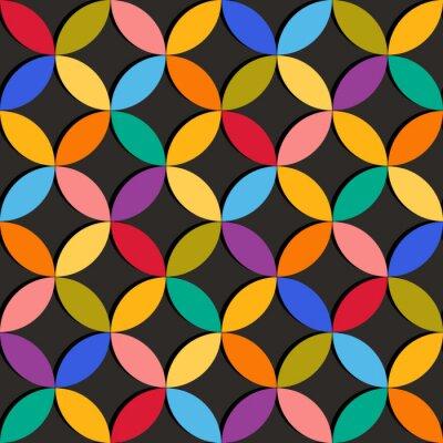 Fotomural Padrão geométrico sem emenda com elementos coloridos