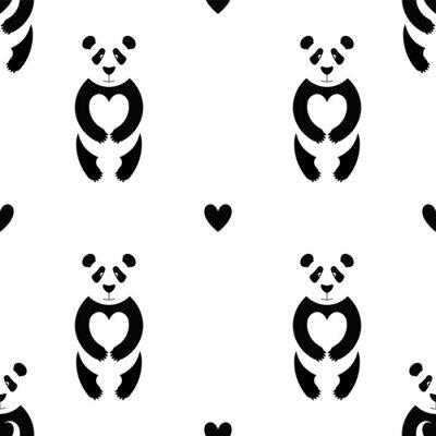 Fotomural Padrão Panda 6