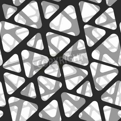 Fotomural Padrão sem costura vetorial. Textura 3d moderna elegante de malha.