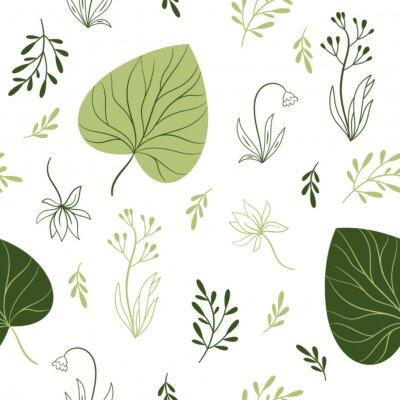 Fotomural padrão sem emenda com flores, elementos florais, design de tecido