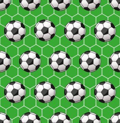 Fotomural padrão sem emenda do futebol