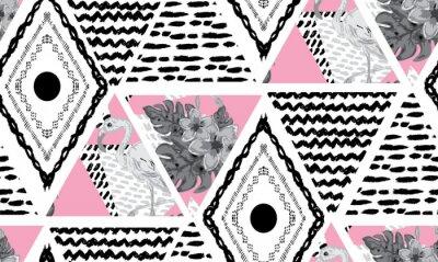 Fotomural padrão sem emenda tropical de grunge