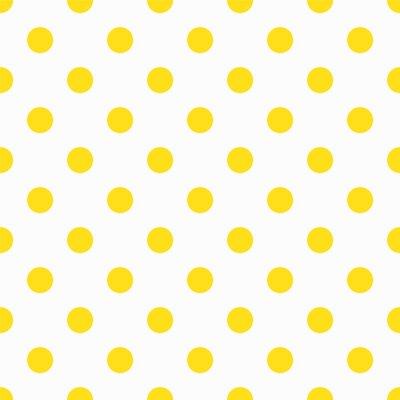 Fotomural Padrão Yellow Polka Dot
