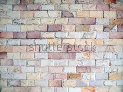 Fotomural Padrões na parede de tijolos