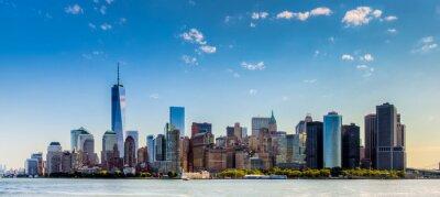 Fotomural Paesaggio di città di Nova Iorque con grattaciel