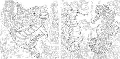 Pagina De Colorir Livro De Colorir Para Adultos Mundo Do Oceano