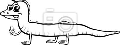 Pagina Para Colorir Desenho Animado Lagarto Fotomural Fotomurais