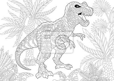 Pagina Para Colorir Do Dinossauro Do Tiranossauro T Rex Do