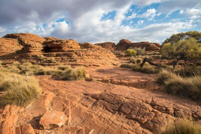 Fotomural Paisagem da garganta dos reis no Território do Norte, Austrália.